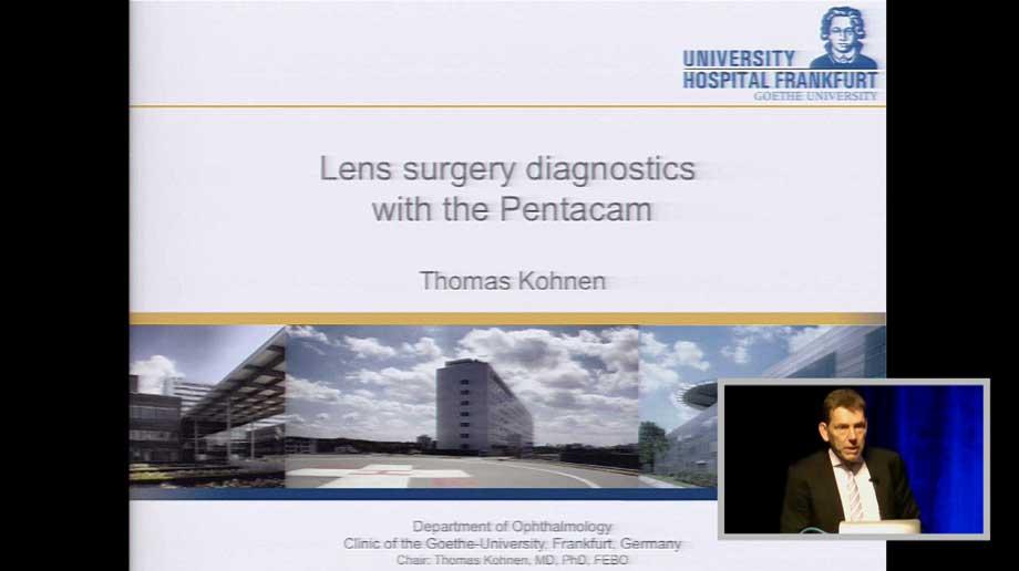 Lens Surgery Diagnostics With The Pentacam®