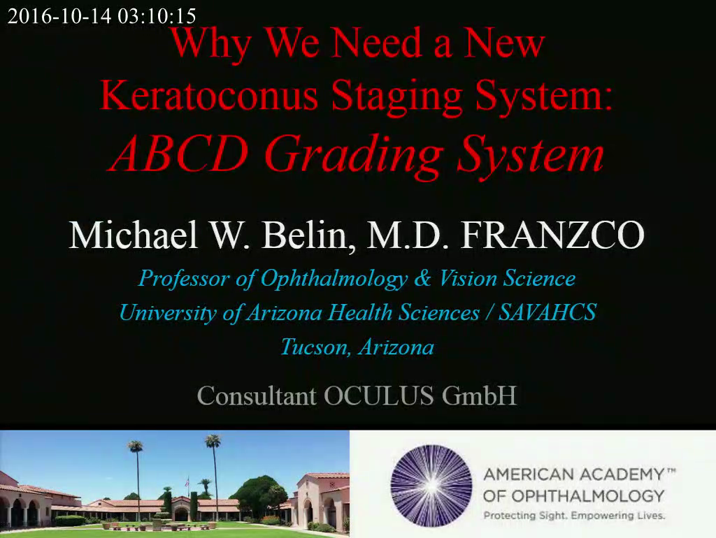 "Video ""Why We Need a New Keratoconus Staging System: ABCD Grading System"" öffnen"