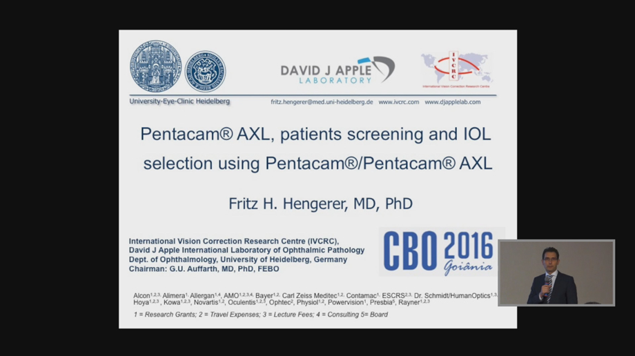 "Video ""Pentacam® AXL, patients screening and IOL selection using Pentacam®/Pentacam® AXL"" öffnen"